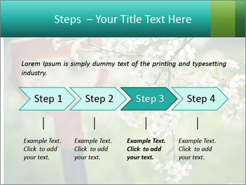 Blooming cherry branch and shovel PowerPoint Templates - Slide 4