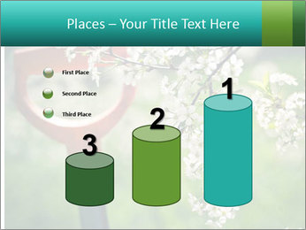 Blooming cherry branch and shovel PowerPoint Templates - Slide 65