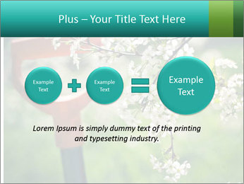 Blooming cherry branch and shovel PowerPoint Templates - Slide 75