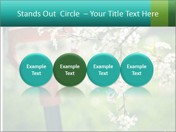 Blooming cherry branch and shovel PowerPoint Templates - Slide 76