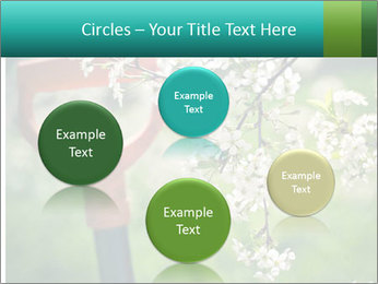 Blooming cherry branch and shovel PowerPoint Templates - Slide 77