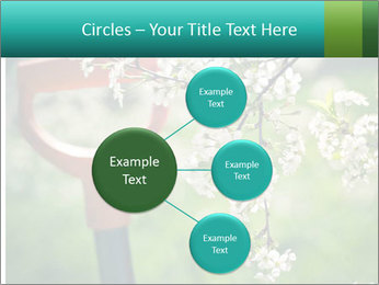 Blooming cherry branch and shovel PowerPoint Templates - Slide 79