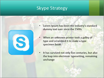 Blooming cherry branch and shovel PowerPoint Templates - Slide 8
