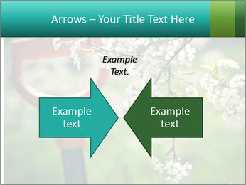 Blooming cherry branch and shovel PowerPoint Templates - Slide 90