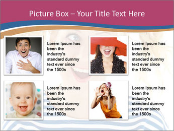 Woman  a funny look PowerPoint Template - Slide 14
