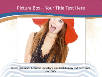 Woman  a funny look PowerPoint Template - Slide 16