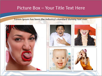 Woman  a funny look PowerPoint Template - Slide 19
