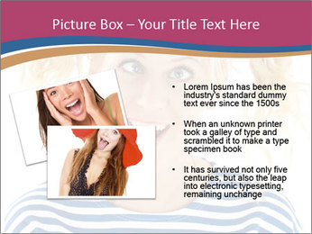 Woman  a funny look PowerPoint Template - Slide 20