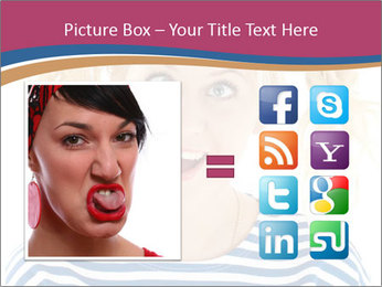 Woman  a funny look PowerPoint Template - Slide 21