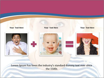 Woman  a funny look PowerPoint Templates - Slide 22
