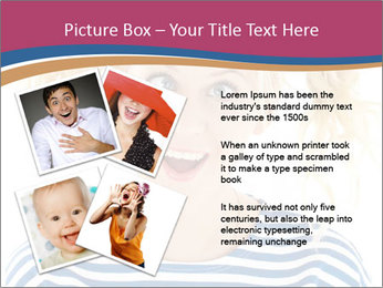 Woman  a funny look PowerPoint Template - Slide 23