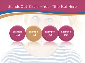 Woman  a funny look PowerPoint Template - Slide 76