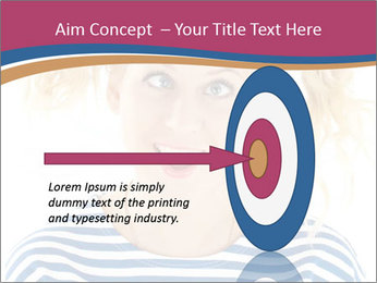 Woman  a funny look PowerPoint Template - Slide 83