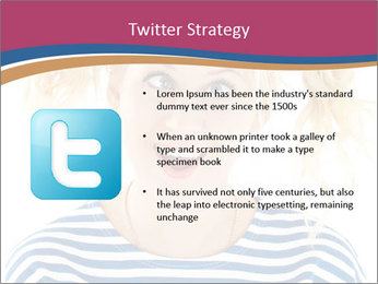 Woman  a funny look PowerPoint Templates - Slide 9