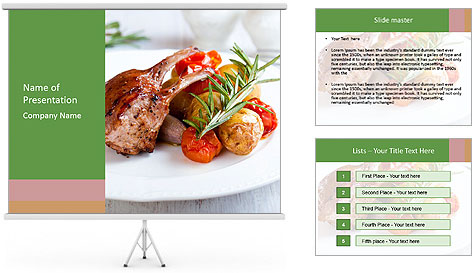 Meat with vegetables PowerPoint Template