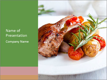 Meat with vegetables PowerPoint Template - Slide 1