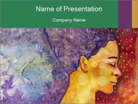 Portrait of women PowerPoint Template