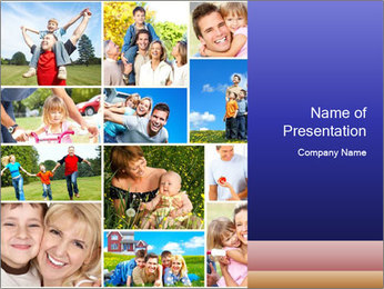 Happy family PowerPoint Template - Slide 1