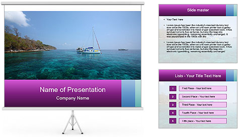 Boat trip PowerPoint Template