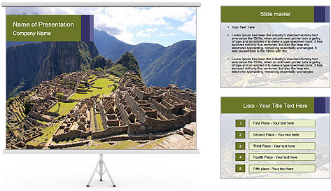 Mysterious city PowerPoint Template