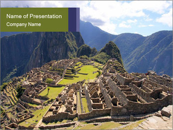 Mysterious city PowerPoint Template - Slide 1