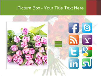 Beautiful gerberas and roses PowerPoint Templates - Slide 21