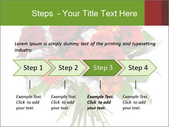 Beautiful gerberas and roses PowerPoint Templates - Slide 4