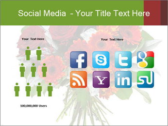 Beautiful gerberas and roses PowerPoint Templates - Slide 5