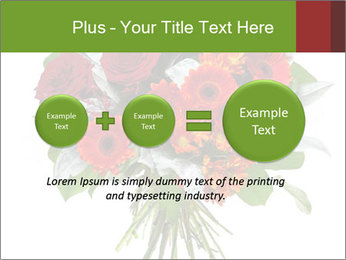 Beautiful gerberas and roses PowerPoint Templates - Slide 75