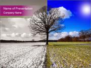 Summer and winter PowerPoint Template