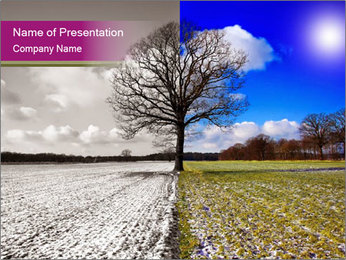 Summer and winter PowerPoint Templates - Slide 1