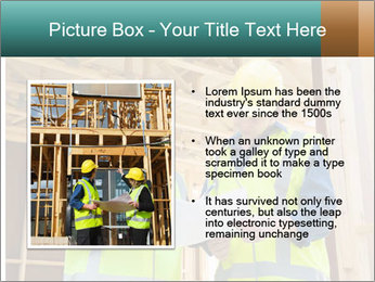 Worker discussing issues at the construction site PowerPoint Template - Slide 13