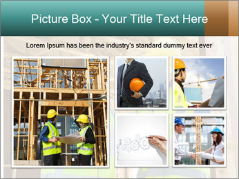 Worker discussing issues at the construction site PowerPoint Template - Slide 19