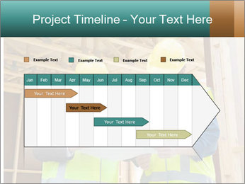 Worker discussing issues at the construction site PowerPoint Template - Slide 25