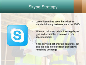 Worker discussing issues at the construction site PowerPoint Template - Slide 8