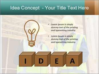 Worker discussing issues at the construction site PowerPoint Template - Slide 80