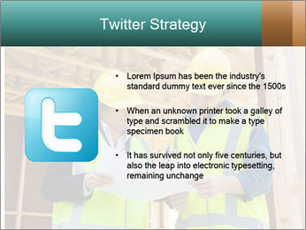 Worker discussing issues at the construction site PowerPoint Template - Slide 9