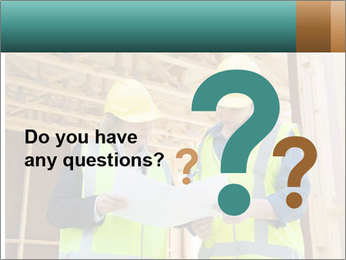 Worker discussing issues at the construction site PowerPoint Template - Slide 96
