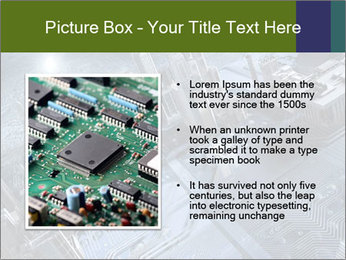 Electronic circuit and city PowerPoint Template - Slide 13
