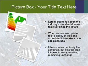 Electronic circuit and city PowerPoint Template - Slide 17