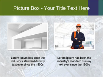 Electronic circuit and city PowerPoint Template - Slide 18