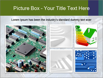 Electronic circuit and city PowerPoint Template - Slide 19