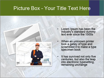 Electronic circuit and city PowerPoint Template - Slide 20