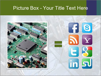 Electronic circuit and city PowerPoint Template - Slide 21