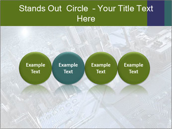 Electronic circuit and city PowerPoint Template - Slide 76