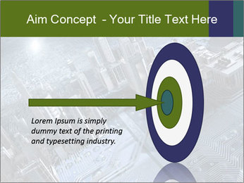 Electronic circuit and city PowerPoint Template - Slide 83