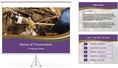Underground mine PowerPoint Template