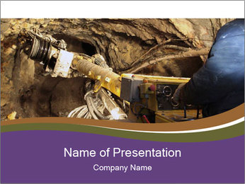 Underground mine PowerPoint Template