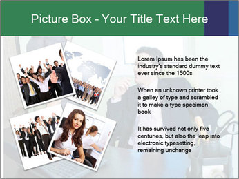 Business assistant flirting PowerPoint Template - Slide 23