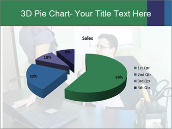 Business assistant flirting PowerPoint Template - Slide 35